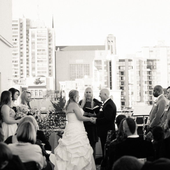 Wedding Ceremony Terrace View