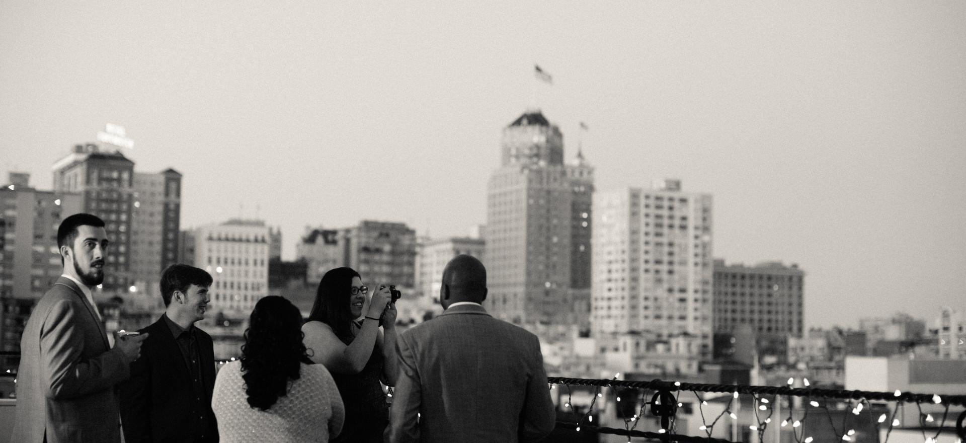 Teerace view wedding day