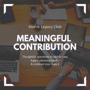 March Legacy Club: A Meaningful Contribution