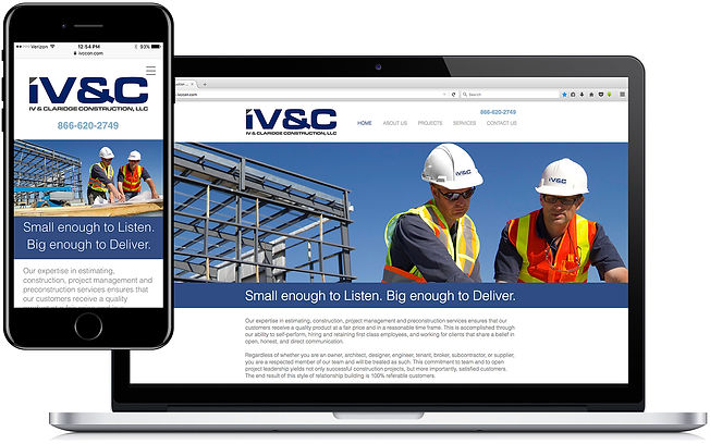 Claridge Construction, LLC website