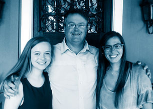 Gene and his daughters