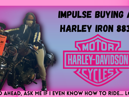 Surprise! I bought my first motorcycle - Harley Iron 883!