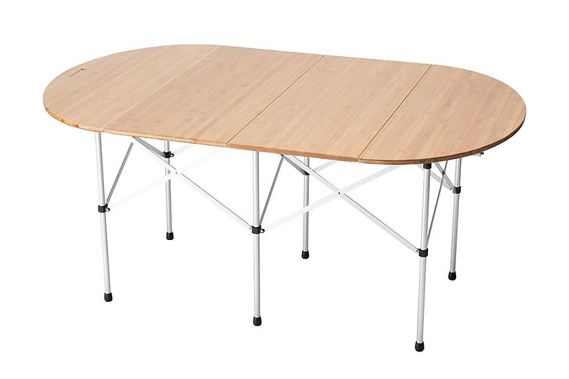 Folding Table Oval Bamboo