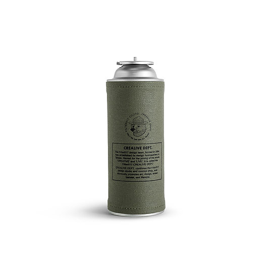 Waxed Canvas Cassettes Gas Canister Cover