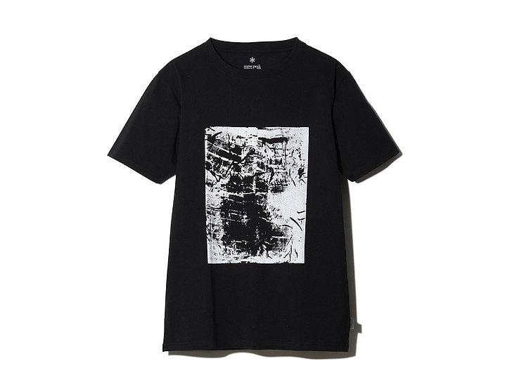 Snow Peak Printed Tshirt Artwork 1 M BK