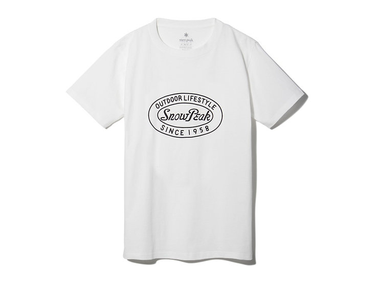 60th Logo T-Shirt Oval (1960) สีขาว