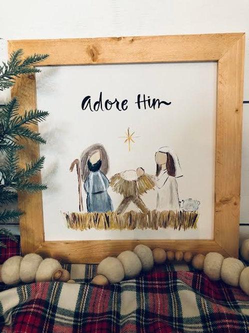 Adore Him Nativity-14in