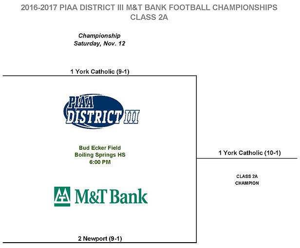 2016 PIAA District 3 Football Championships Class 2A
