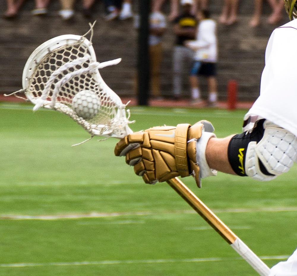 Lacrosse Ball in Stick Net