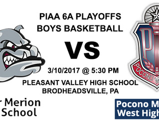 PIAA 6A Boys Basketball Playoffs First Round Preview - 11-1 Pocono Mountain West vs. 1-9 Lower Merio