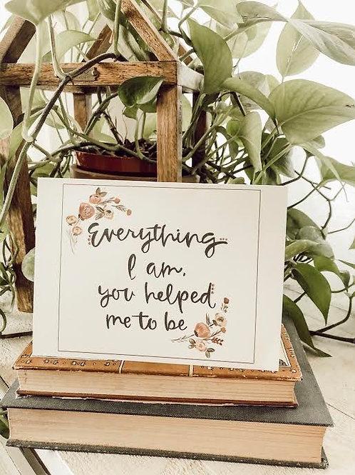 Everything I am notecard
