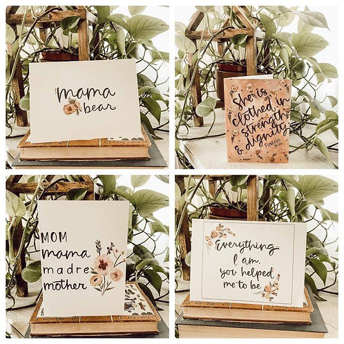 Set of 4 Mother's Day Cards