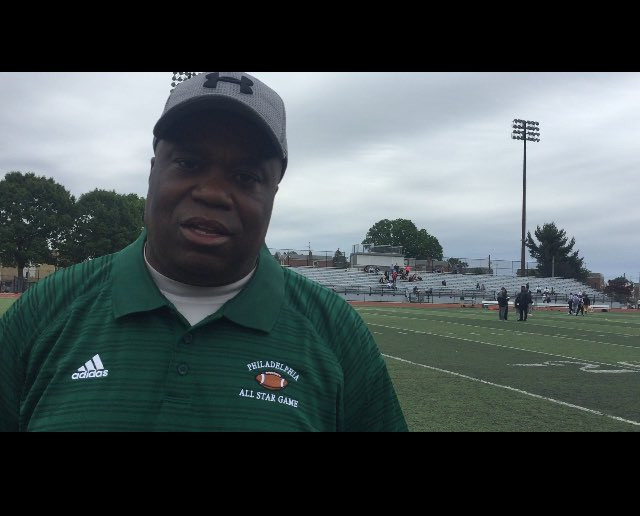 Green Team head coach Troy Gore from Del Val Charter