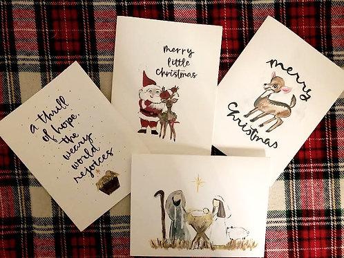 Set of 8 Christmas Notecards