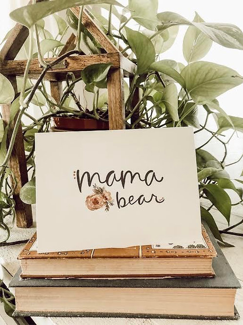 Mama Bear Notecard