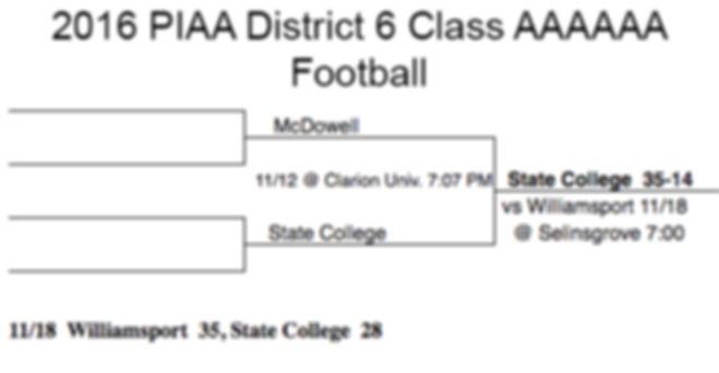 2016 PIAA District 6 Class 6A Football