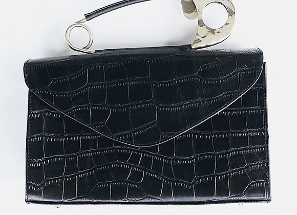 Safety Pin Bag Croc