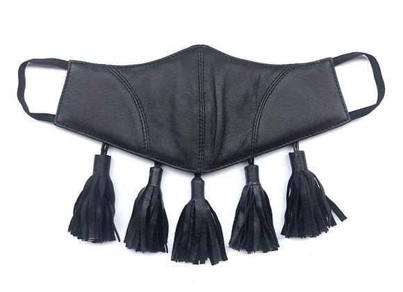 Leather Tassel Mask