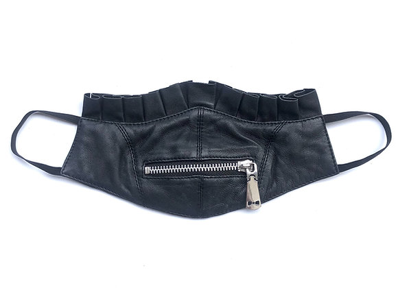Leather Zip It Mask