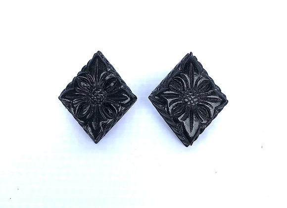 Traditional Carved Earring