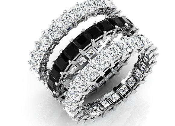Black & White Diamond Eternity Ring