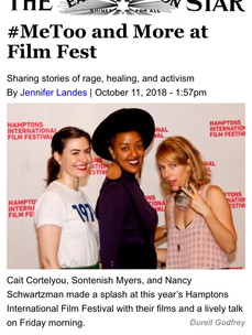 left to right: Cait Cortelyou, Sontenish Myers, Nancy Schwartzman