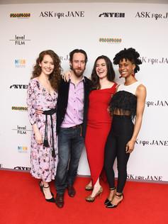 left to right: Megan Channell, Phil Burke, Cait Cortelyou, Latresa Baker