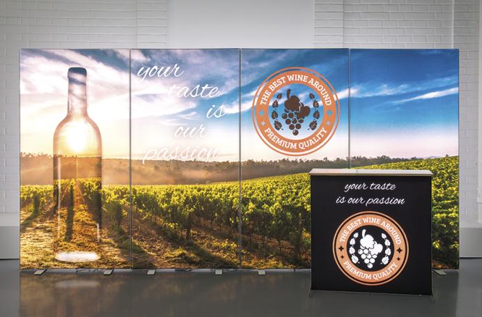 GoodGrapes Winery | Világító Hátfal Tervezés