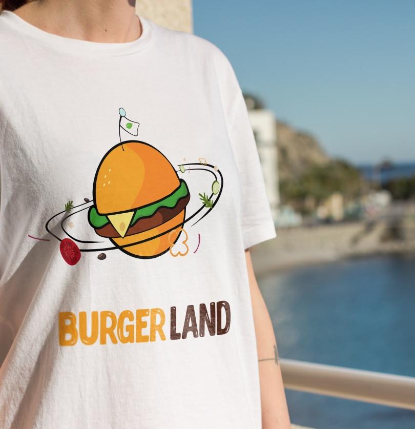 Burger Land | Logo Látványterv