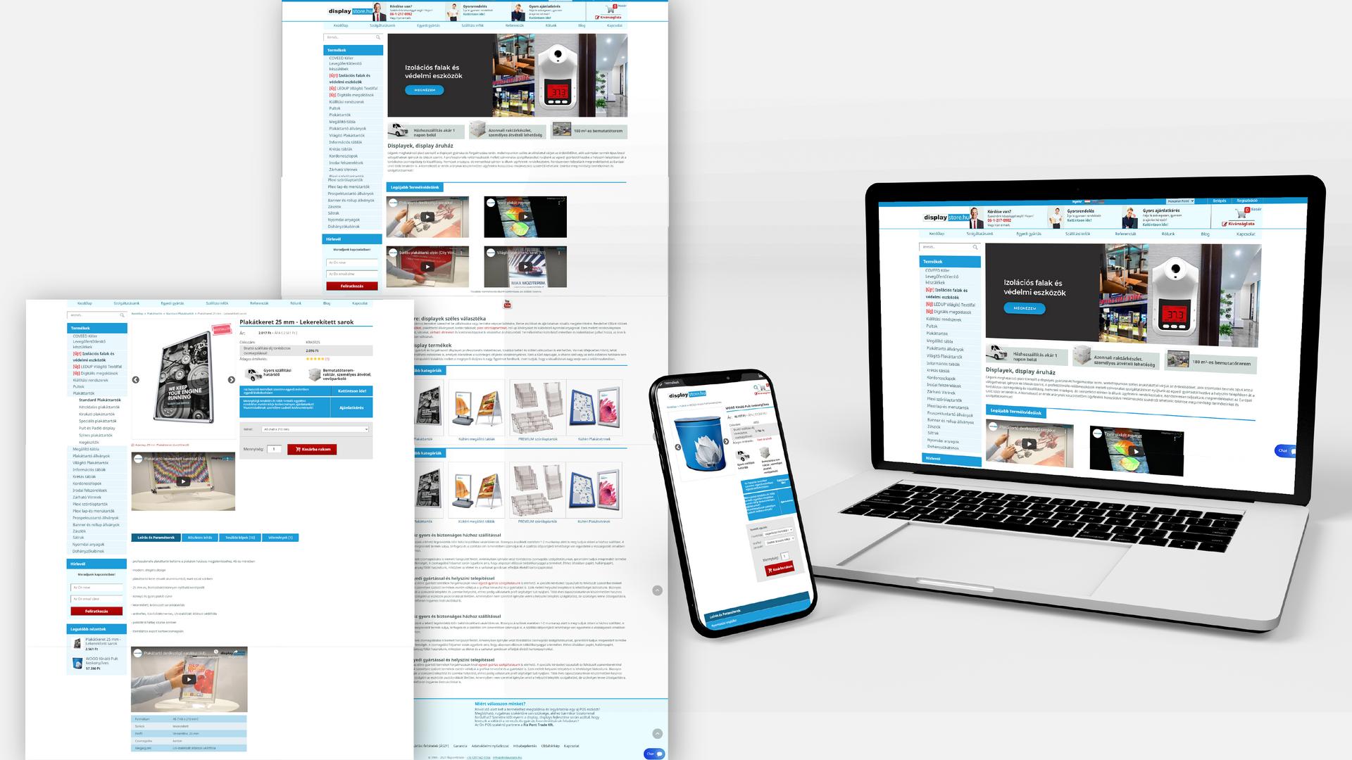 Display Store | Webáruház Készítése