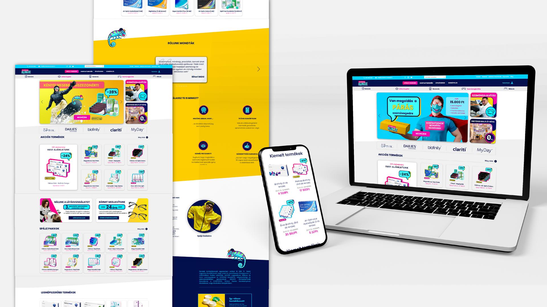KontakencseSpájz | Webáruház Fejlesztés