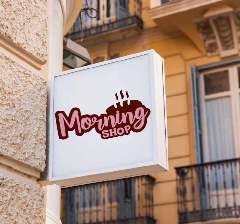 MorningShop | Reklámtábla
