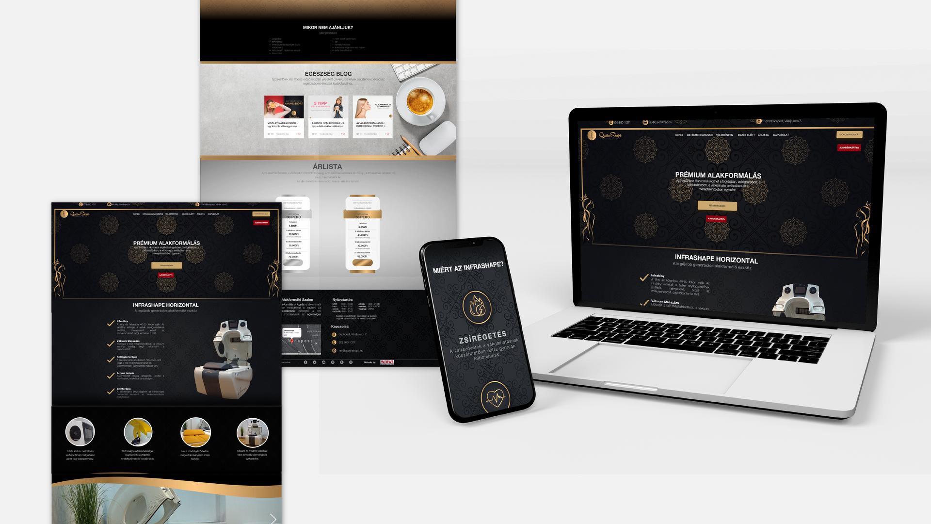 QueenShape | Időpontfoglaló oldal & shop