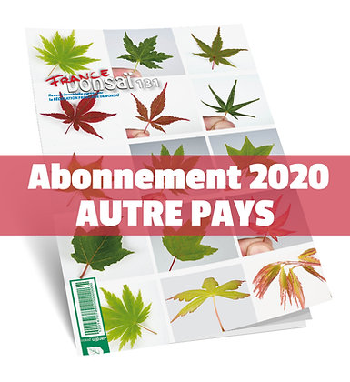 Abonnement France Bonsaï 2020  (NO UE et DOM-TOM)