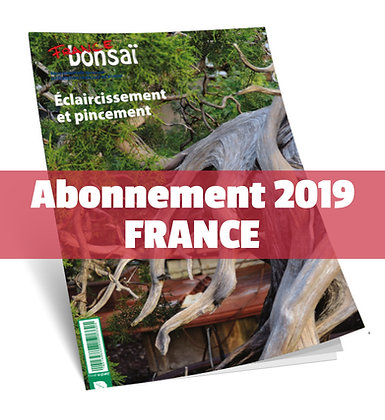 Abonnement France Bonsaï 2019 France