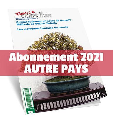 Abonnement France Bonsaï 2021 (NO UE et DOM-TOM)