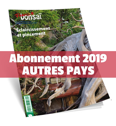Abonnement France Bonsaï 2019  (NO UE et DOM-TOM)