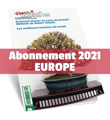 Abonnement France Bonsaï 2021 (UE)