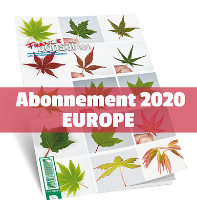 Abonnement France Bonsaï 2020 (UE)