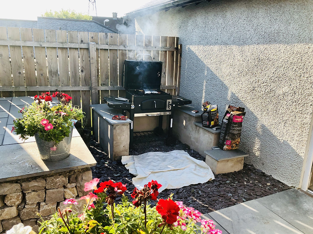 Disabled lockdown holiday at home - wheelchair accessible BBQ