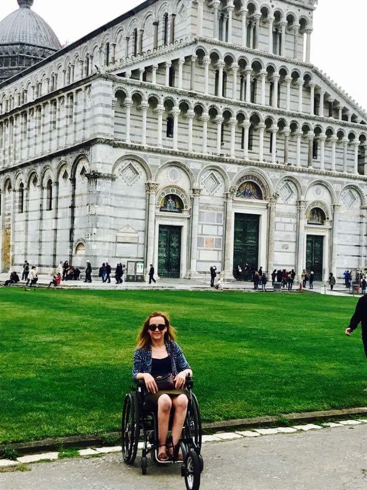 Carrie-Ann Lightley Disabled Travel Blogger in Pisa
