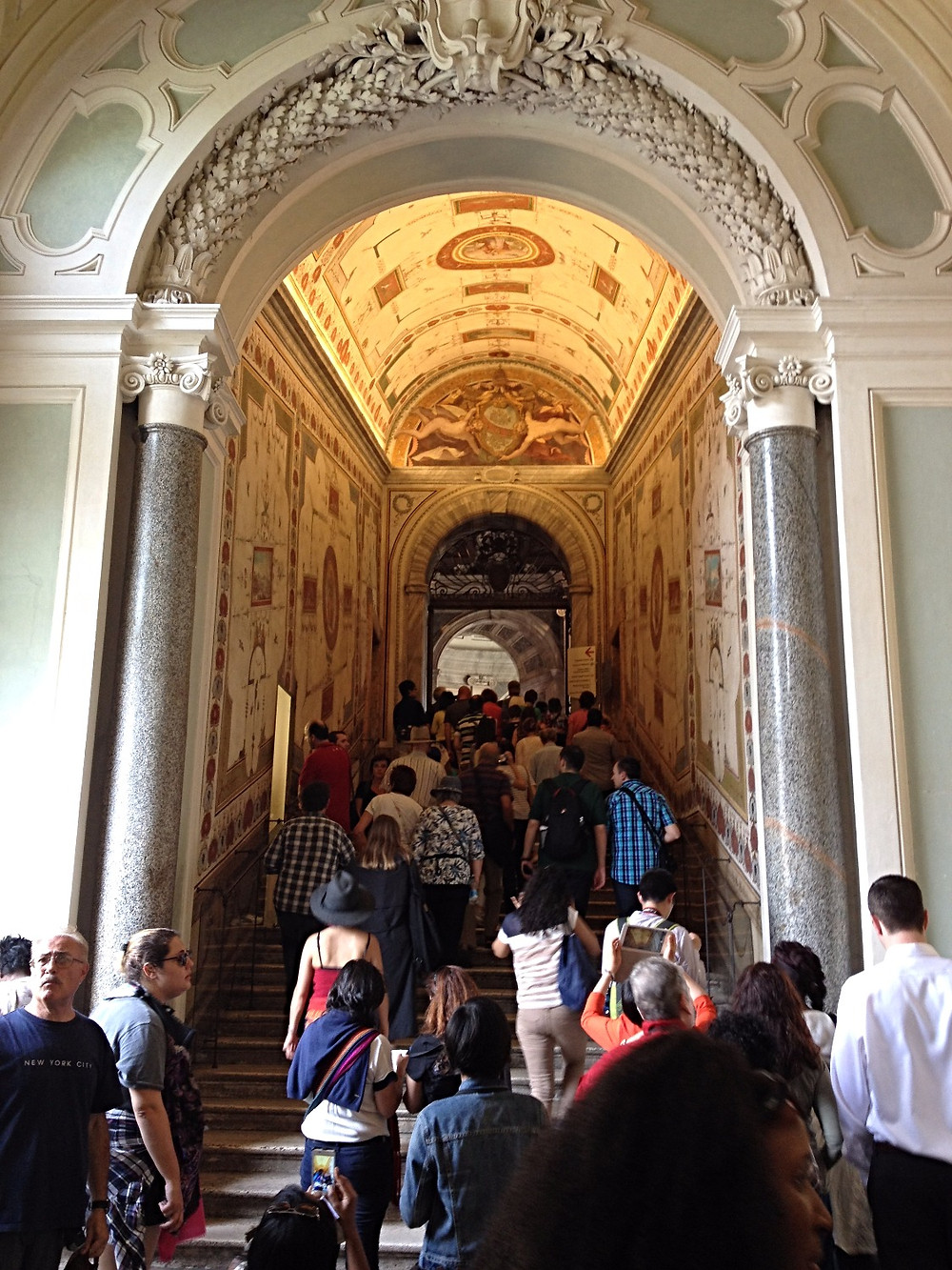 Crowds entering the Sistine Chapel, Rome