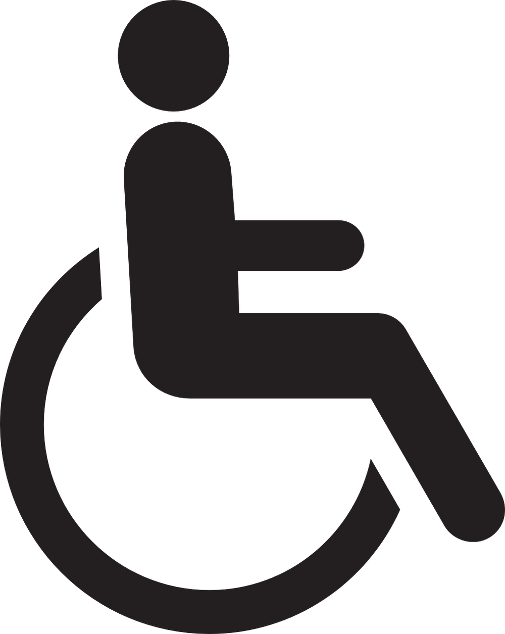 Black wheelchair symbol