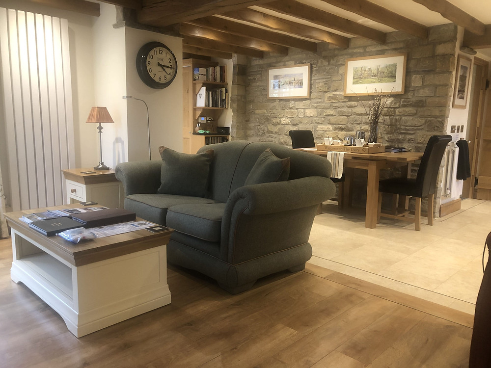 The Dairy Wheelchair Accessible Cottage Lounge and Dining Area