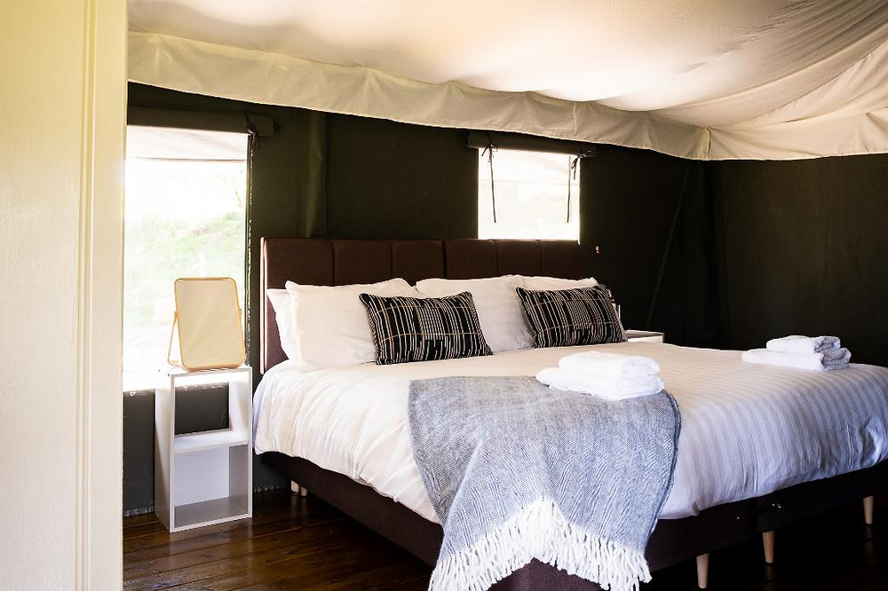 Wales Wheelchair Accessible Safari Tent Bedroom