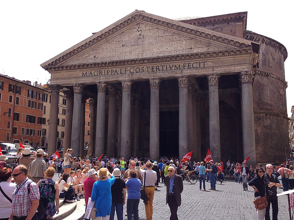 The Pantheon, one of Rome's best preserved ancient monuments