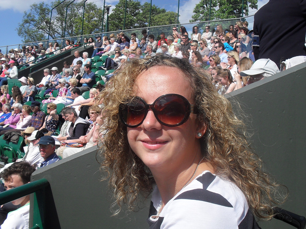 Carrie-Ann Lightley Disabled Travel Blogger Watching the Wimbledon Championships
