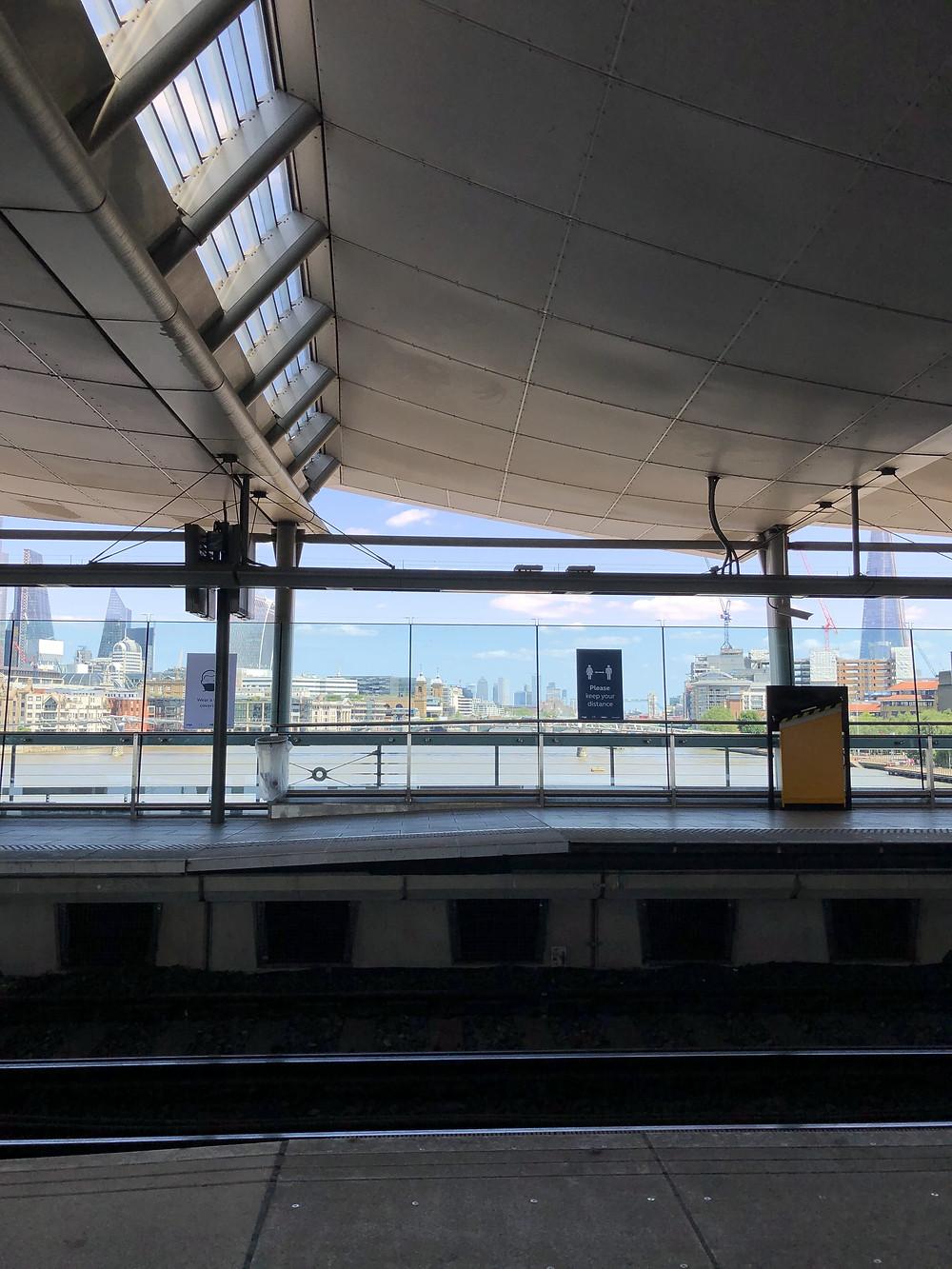 Platform at Blackfriars Station