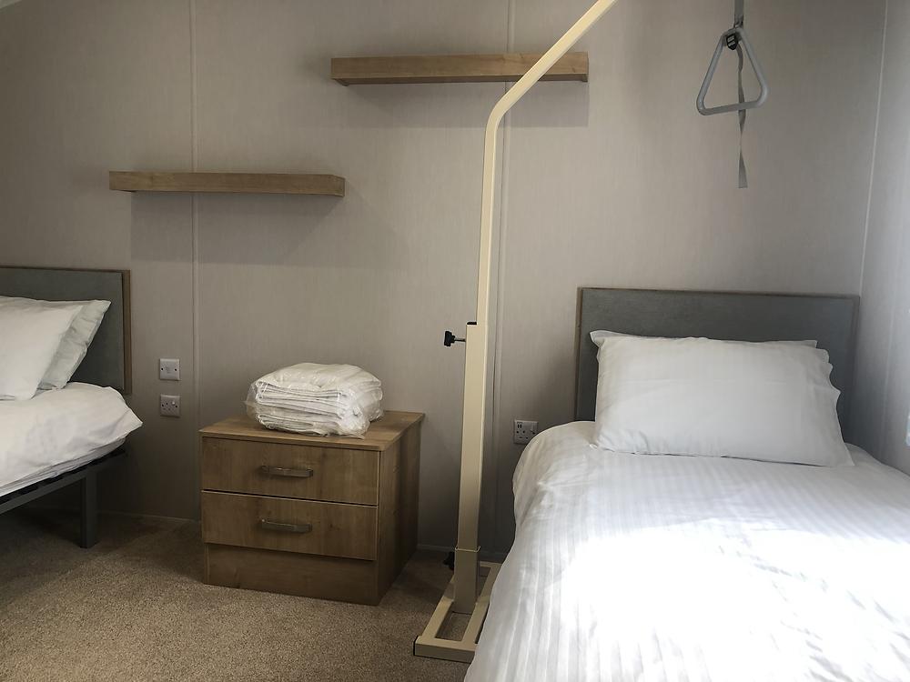 Callander Woods Wheelchair Accessible Caravan Bedroom