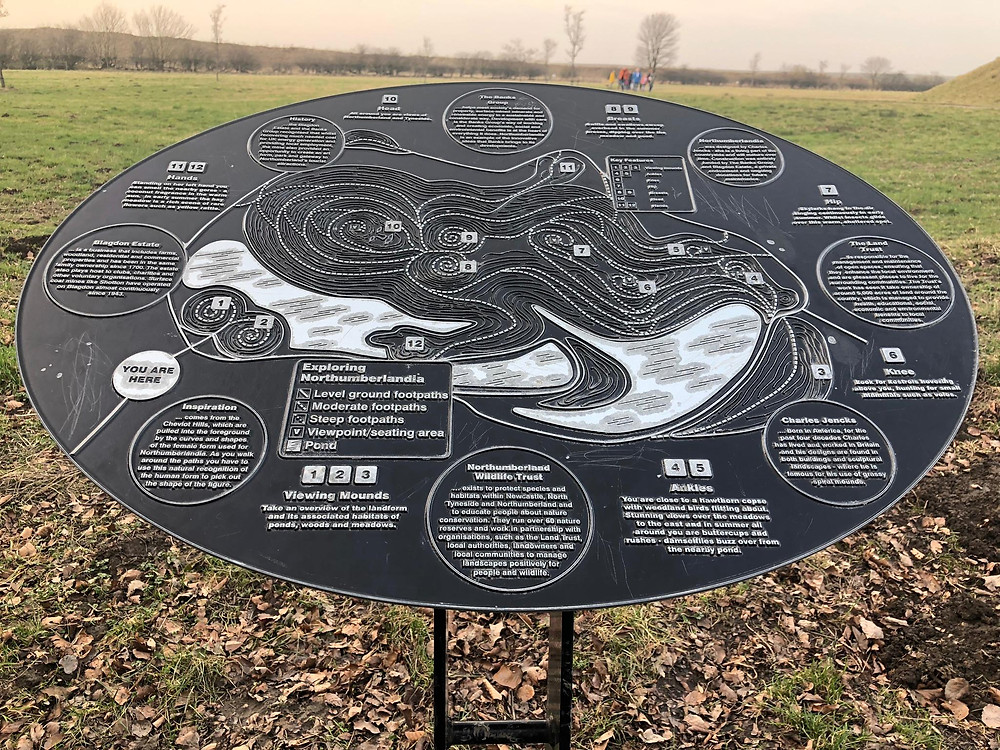Northumberlandia Map